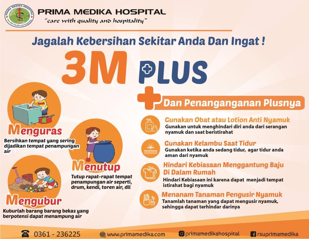 Cegah Demam Berdarah Dengan 3M Plus ! Apa itu ?