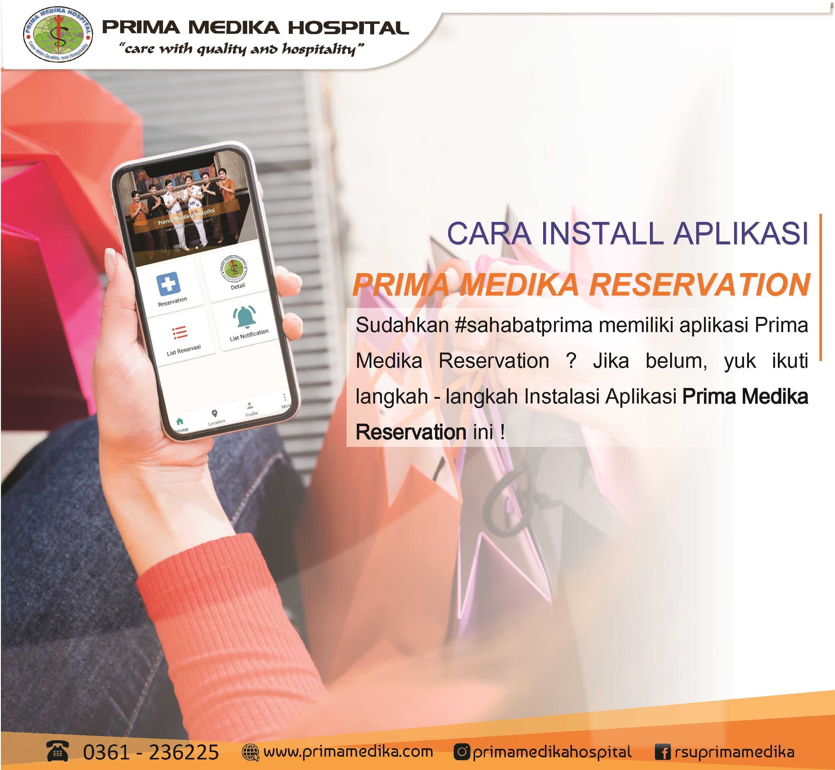 """Tata Cara Install Aplikasi """"Prima Medika Reservation"""" yuk simak !"""