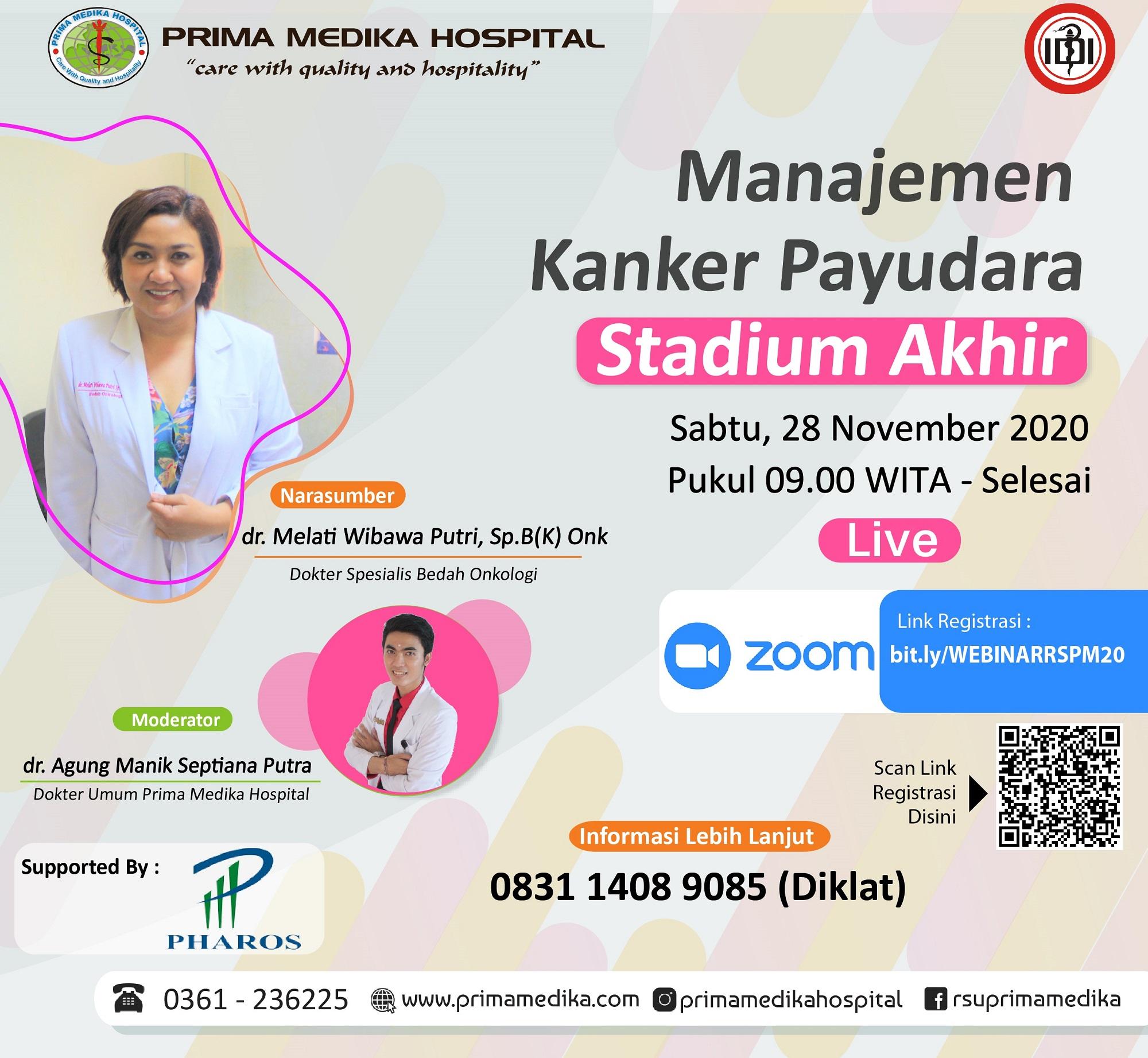 """Webinar """"Manajemen Kanker Payudara Stadium Akhir"""""""