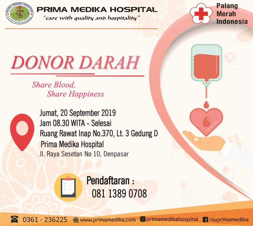 Yuk Donorkan Darahmu Pada Jumat ini di Prima Medika Hospital !